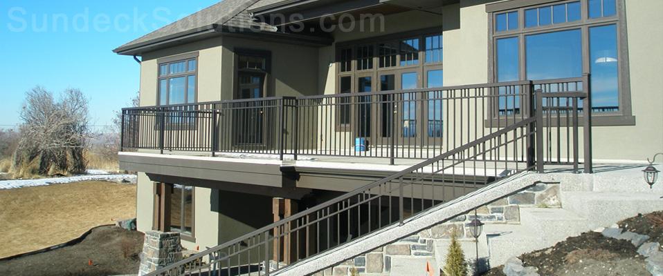 aluminum decking calgary | Sundeck Solutions - Calgary Vinyl Decking and Railings